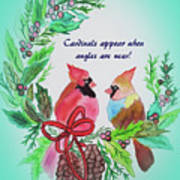 Cardinals Painted By Laurel Adams Poster