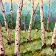Carefree Birches Poster