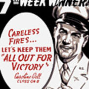 Carelessness Causes Fires Poster