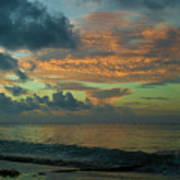 Caribbean Early Sunrise 2 Poster