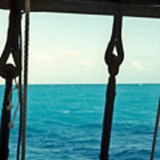 Caribbean From A Square Rigger Poster