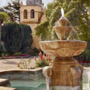 Carmel Fountain Courtyard Poster