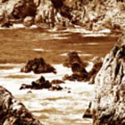 Carmel Highlands 8 Sepia Poster