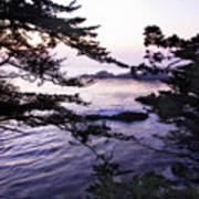Carmel Highlands Sunset 1 Poster