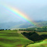 Carmel Valley Rainbow Poster