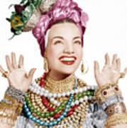 Carmen Miranda, Ca. Late 1940s Poster