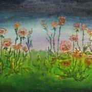Carnations At Dusk Poster