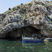 Caroline Cave And Maltese Traditional Boat Poster