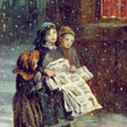 Carols For Sale  Poster by Augustus Edward Mulready