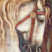 Carousel Horse Painting Poster