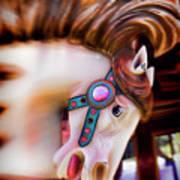Carousel Horse Portrait Poster