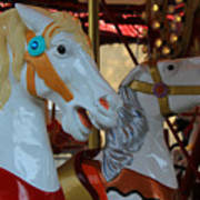 Carousel Horses At A Fair Poster