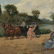 Carriage Ride By The River Poster