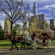 Carriage Ride In Central Park Poster