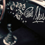 Carroll Shelby Signed Dashboard Poster
