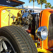 Cars - 1932 Ford Roadster Hot Rod - Engine And Tire Close Up Poster