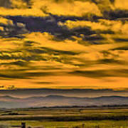 Carson Valley Sunrise Poster