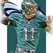 Carson Wentz Philadelphia Eagles Oil Art Poster