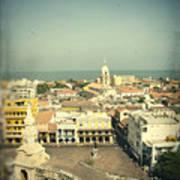 Cartagena De Indias Seen From Above Poster