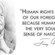 Carter On Human Rights Poster