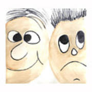 Cartoon Faces Poster