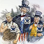 Cartoon: New Deal, 1933 Poster