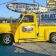 Cartoon Truck Poster