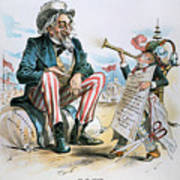 Cartoon: Uncle Sam, 1893 Poster