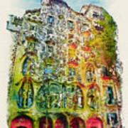 Casa Batllo Barcelona Poster