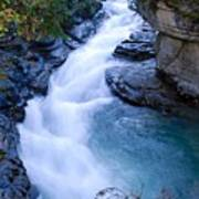 Cascade In The Maligne Canyon Poster