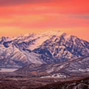 Cascade Ridge Sunrise Poster