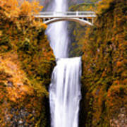 Cascading Gold Waterfall Poster