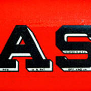 Case Tractor Nameplate Poster