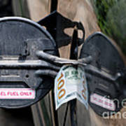 Cash In Truck Fuel Tank Fill Spout Poster