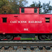 Cass Red Caboose Poster