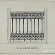 Cast Iron Balcony Railing Poster