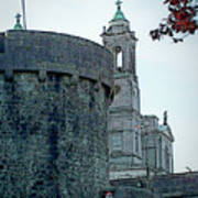 Castle And Church Athlone Ireland Poster