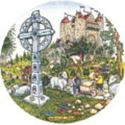 Castle Cross Circle Poster
