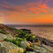 Castle Hill Lighthouse - Newport Rhode Island Poster by Thomas Schoeller