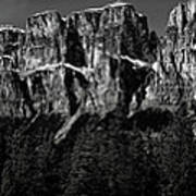 Castle Mountain Panoramic Poster
