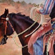 Castle Rock Buckaroo Western Cowboy Painting Poster