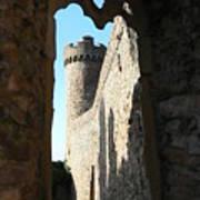 Castle Tower Thru Window Poster