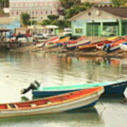 Castries Harbor Waterfront Poster