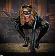 Cat On The Prowl Poster