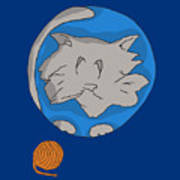 Cat Planet Poster