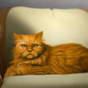 Cat Portrait of Tosca Poster