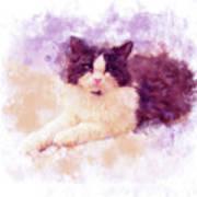 Cat Watercolor Poster