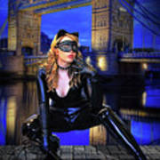 Cat Woman In London Poster