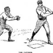 Catcher & Batter, 1889 Poster