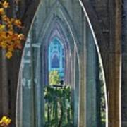 Cathedral Columns Of The St. Johns Bridge Poster